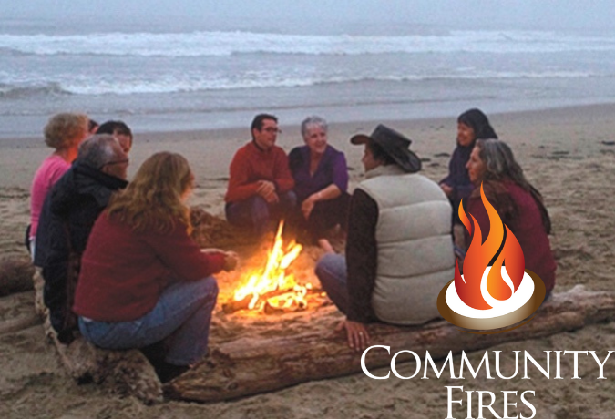 Sacred Fire Community FIre on the Beach